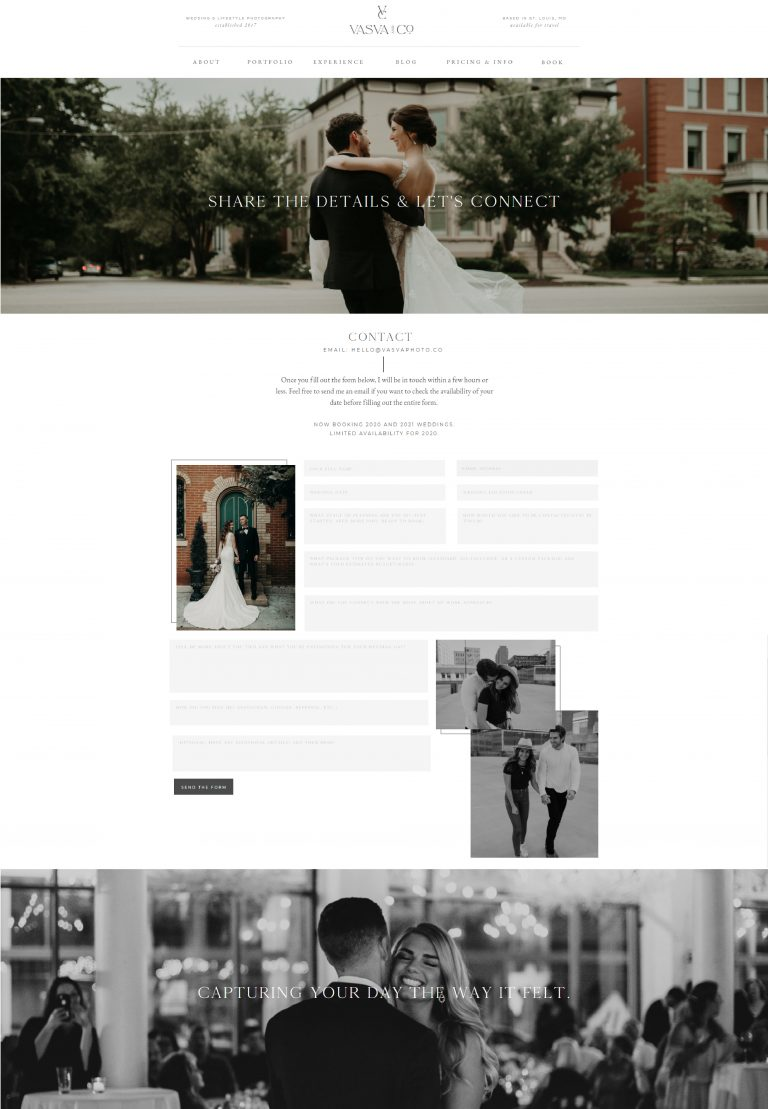 Vasva & Co. Photography - Contact Page